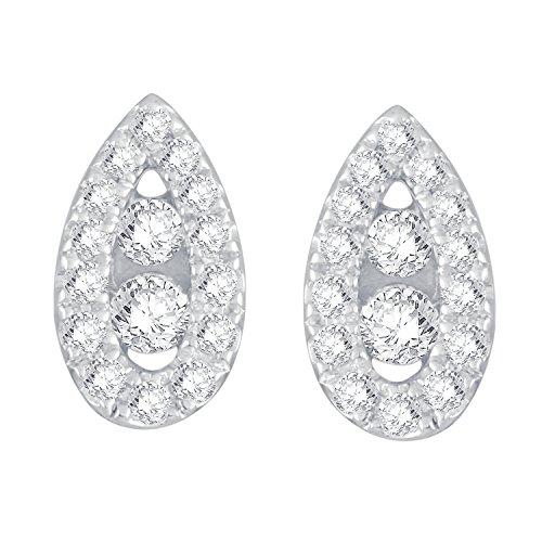 Giantti Diamant pendant matelassé pour femme Boucles d'oreilles (0.9492CT, qualité HSI, Gh-colour)