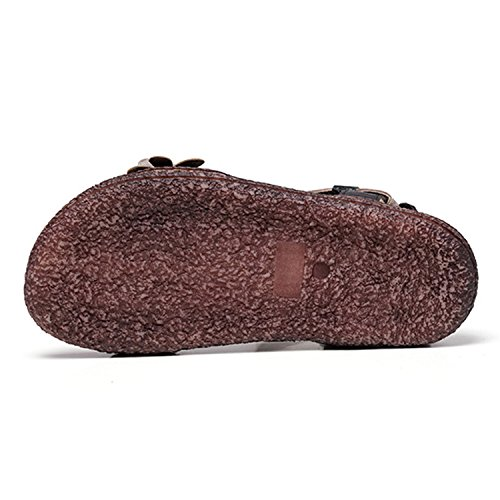 Chaussure Tongs Mode Fleurs Frestepvie Femme Vacances Sandales Plage Eté Clip Gris avec Bohème Casual Toe Fille de Flops Plates Flip PP6YqR