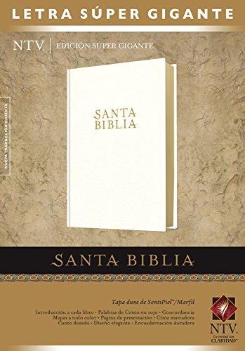 Marfil Cream - Santa Biblia NTV, Edición súper gigante (Letra Roja, SentiPiel, Marfil) (Spanish Edition)