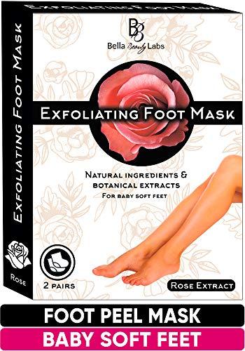 Exfoliating Foot Peel Mask For Softer, Smooth Feet- Gently Peel Away Calluses & Dead Skin, Repair Rough Heels, Get Beautiful Baby Feet Foot Peel in 7 Days (2 Packs)