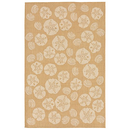 Liora Manne TER45179022 1790/22 Shell Toss Almond Rugs, Indo