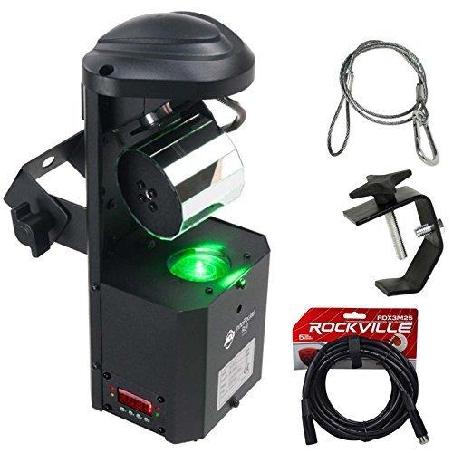 American DJ ADJ Inno Pocket Roll Barrel Mirror Scanner Light+DMX Cable+Clamp by American DJ