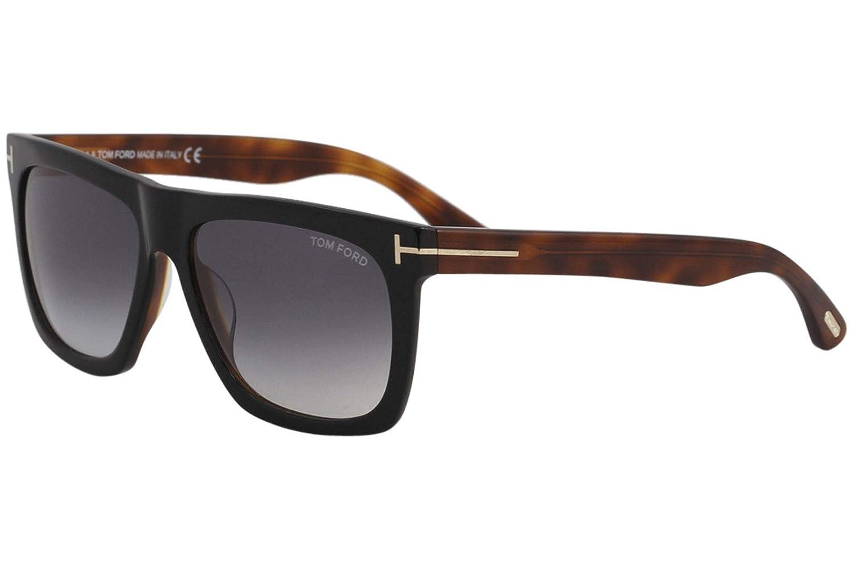 d0461a1bd83 Amazon.com  Tom Ford FT0513 05B Shiny Black Havana Morgan Square Sunglasses  Lens Category 2  Tom Ford  Clothing