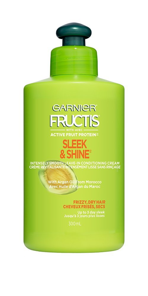 Garnier Fructis Sleek and Shine Intensely Smooth Leave-In Conditioning Cream, 300-Milliliter