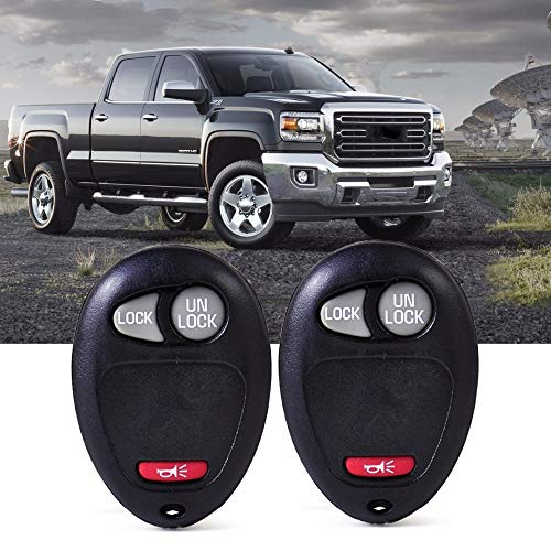 Cacys-Store - 2pcs Replacement Remote 3 Button Key Keyless Transmitter Clicker Beeper Alarm L2C0007T for Chevrolet Colorado Hummer Truck