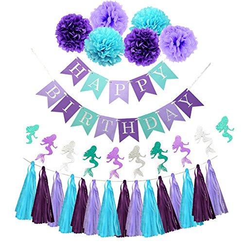 chic purple teal mermaid party supplies mermaid blue purple tissue