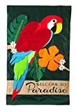 Evergreen Flag Parrot Paradise Applique House Flag, 28 x 44 inches