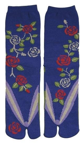 Japanese Samurai Ninja Tabi Socks; Roses