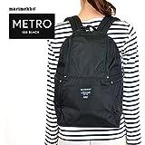 (マリメッコ)marimekko バックパック リュックサック 39972 METRO メトロ 999 BLACK ブラック [並行輸入品]