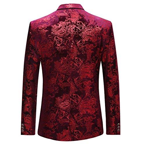 Moderne Costume Mariage Style Homme Bordeaux Affaires Cloud Haut costume costume De Mince Décontraction ZqOcx4