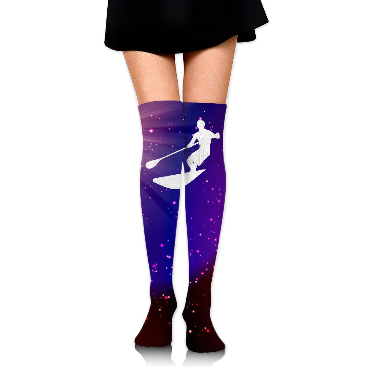 Girls Womens Paddleboard Sports Over Knee Thigh High Stockings Cute Socks One Size