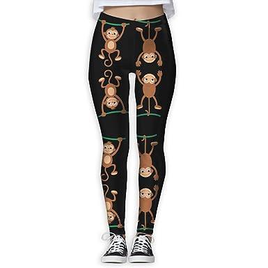 bf2d34bd0d5da Amazon.com: WPE8 Naughty Lovely Monkey Women's Workout Running Gym Tights  Leggings High Waist Yoga Pants: Clothing