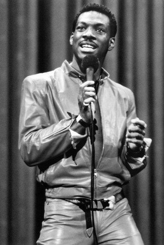 Eddie Murphy Leather Pants and Jacket On Stage 24x36 Poster -