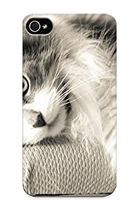Fashion Protective Cats Cat Case Cover Design For Iphone 4/4s by ruishername