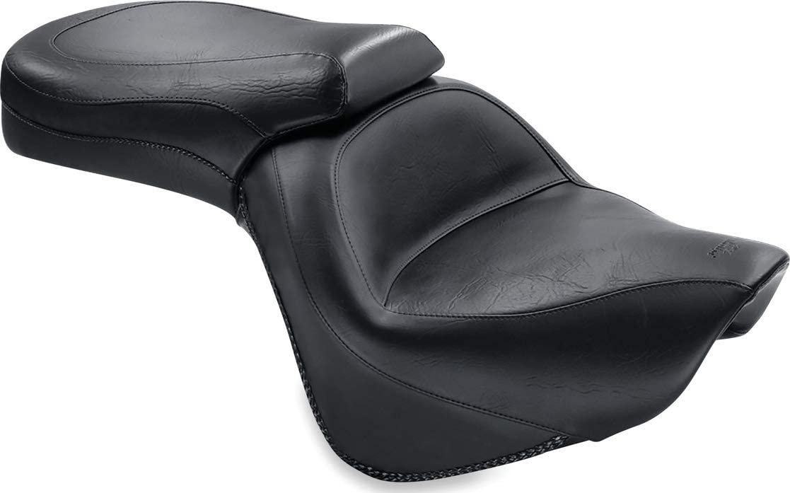 Mustang 76127 Standard Touring One-Piece 2-Up Motorcycle Seat for Kawasaki Vulcan 900 2006-18 Black