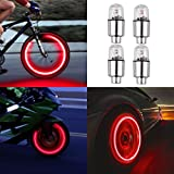 Kyпить 4pcs Led Flash Wheel Tyre Tire Valve Caps Light for Car Bike Bicycle Motorbicycle, Red на Amazon.com