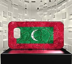 Funda Carcasa para Galaxy S6 Edge Bandera LAS MALDIVAS 03