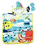 Solby towel poncho (with fish mittens) breeze you walk sea? [Bath] [pool] AKSB103500