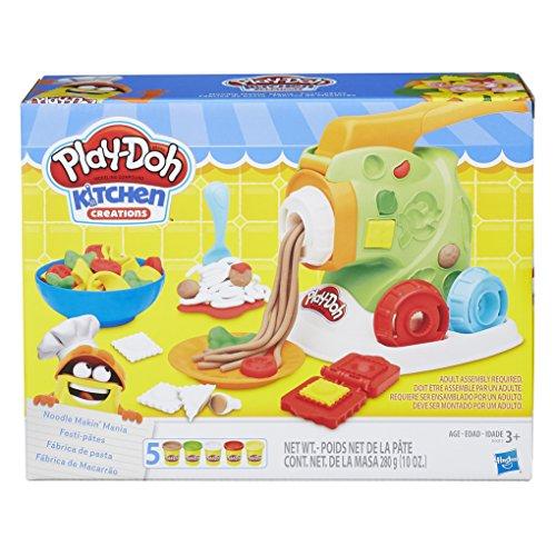 Conjunto de Massinha Play-Doh Fábrica de Macarrão 5 Potes Hasbro