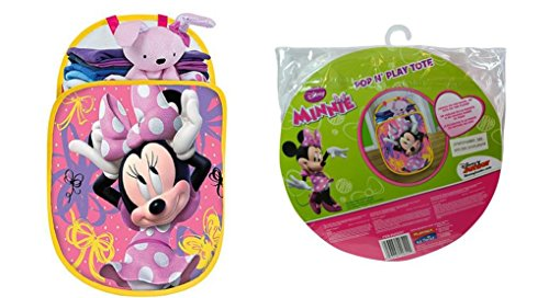 (Minnie Mouse Pop N Play Tote - Hamper, Storage, Toy or Laundry Use by)