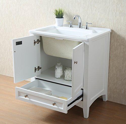 Stufurhome GM-Y01W 30.5-Inch Pure White Single Laundry Sink by Stufurhome (Image #7)