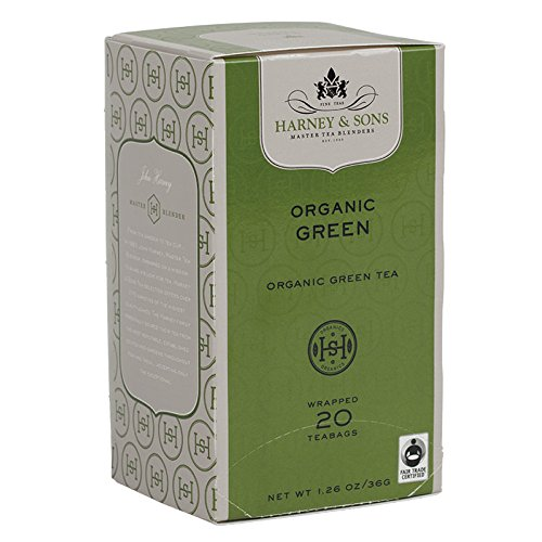 (Harney and Sons Organic Green Teabags, 20 Count (Pack of)