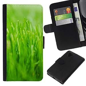 JackGot ( Natura Bella Forrest Verde 22 ) LG Nexus 5 D820 D821 la tarjeta de Crédito Slots PU Funda de cuero Monedero caso cubierta de piel
