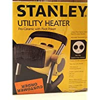 Stanley 675919 Ceramic Utility Heater Adjustable Thermostat Control for Personalized Comfort