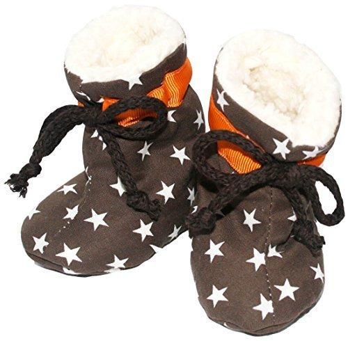 TORMENTA DE COLOR - Varones Zapatos Zapatos de gateo Empuje con Polar forrado ESTRELLAS en marrón Marrón