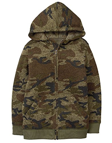 Front Pocket Zip Hoodie - Crazy 8 Little Boys' Front Pocket Knit Zip Hoodie, Camo, M