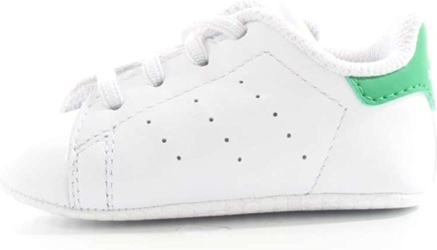 running shoes sold worldwide outlet online Adidas ORIGINALS Stan Smith Crib, Chaussures Bébé Marche garçon ...