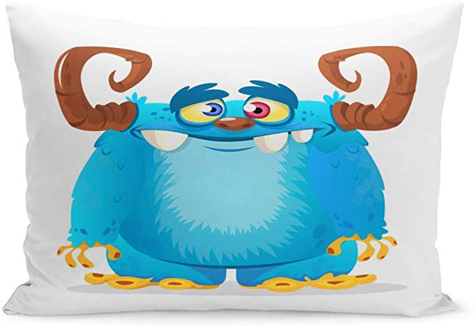Emvency Throw Pillow Covers Yeti Blue