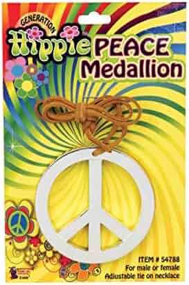 Forum Novelties Hippie Peace Medallion