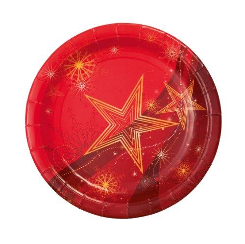 Sigel ZB459 Weihnachts-Teller rund, 23 cm, Pappe, 10 Stück