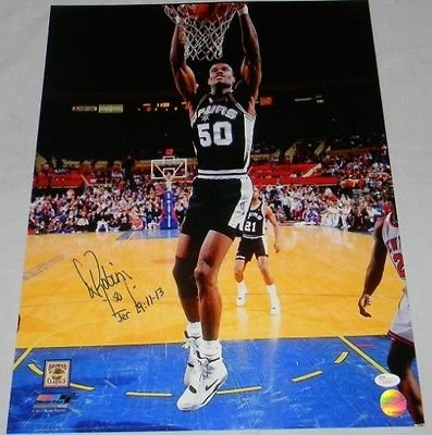 ef3954241 Image Unavailable. Image not available for. Color  David Robinson  Autographed Signed San Antonio Spurs ...