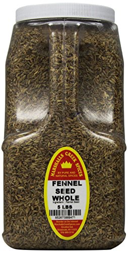 Marshalls Creek Spices Fennel Seeds Whole, XX-Large, 5 Pound by Marshall's Creek Spices