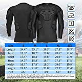 TUOY Men's Padded Compression Long Sleeve Shirt