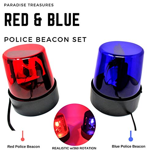 Rotating Red and Blue Flashing Police Beacon Party Light Lamps DJ Strobe (Rotating Police Beacon)