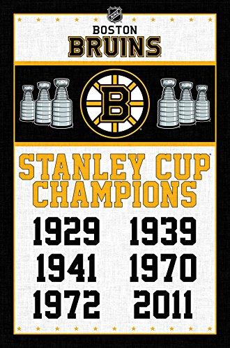 Trends International Boston Bruins Champions Wall Poster 22.375 x 34