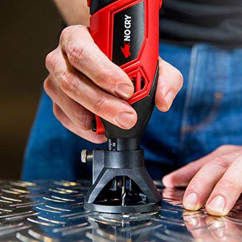 NoCry 10/125 Professional Rotary Tool Kit with Heavy Duty 170W/1.4A Electric Motor, Universal 3-Jaw Chuck, 10 Attachments & 125 Accessories Included by NoCry (Image #7)