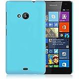 WOW Imagine Matte Rubberised Hard Case Back Cover For Nokia Microsoft Lumia 535 (Sky Blue)