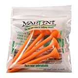 ProActive Martini Golf 3-1/4'' Durable Plastic Tees 5-Pack (Orange)