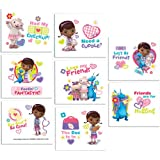 "Doc McStuffins Tattoos Disney Birthday Party Favours (16 Pack), Multi Color, 2"" x 1 3/4""."