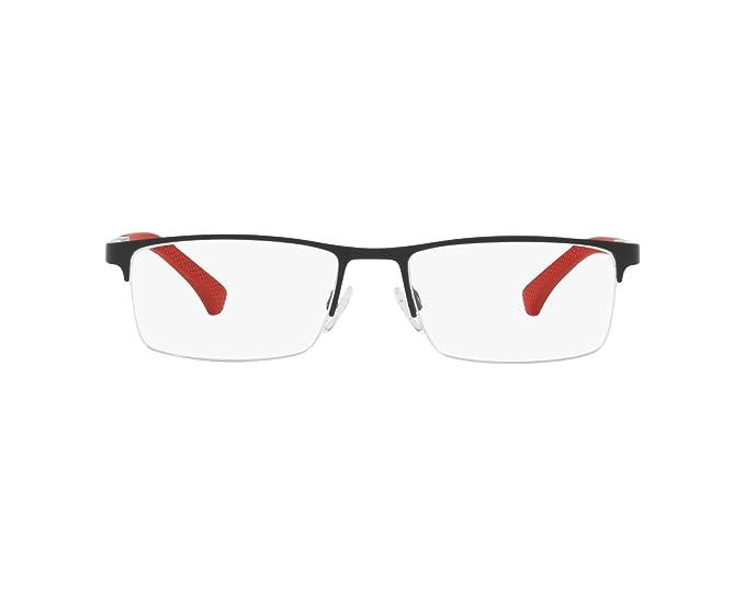 Emporio Armani 0EA1041, Monturas de Gafas para Hombre, Black Rubber, 53