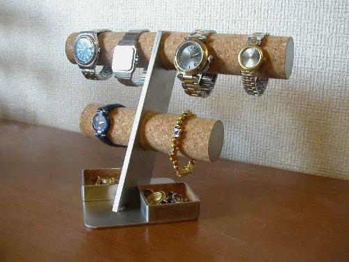 腕時計収納スタンド 、6本掛け角トレイ腕時計収納スタンド B004NCHH5W