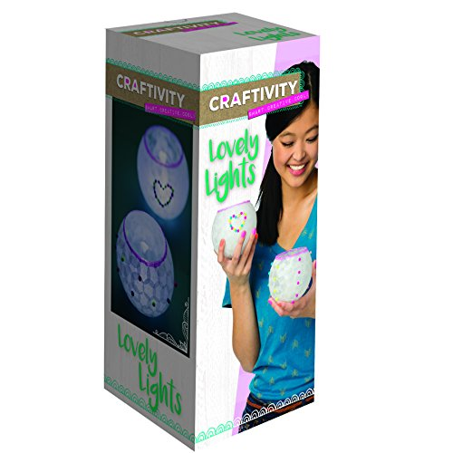 Painting Techniques Glaze (CRAFTIVITY Lovely Lights Craft Kit - Makes 3 Decoupage Tea Light Lanterns)