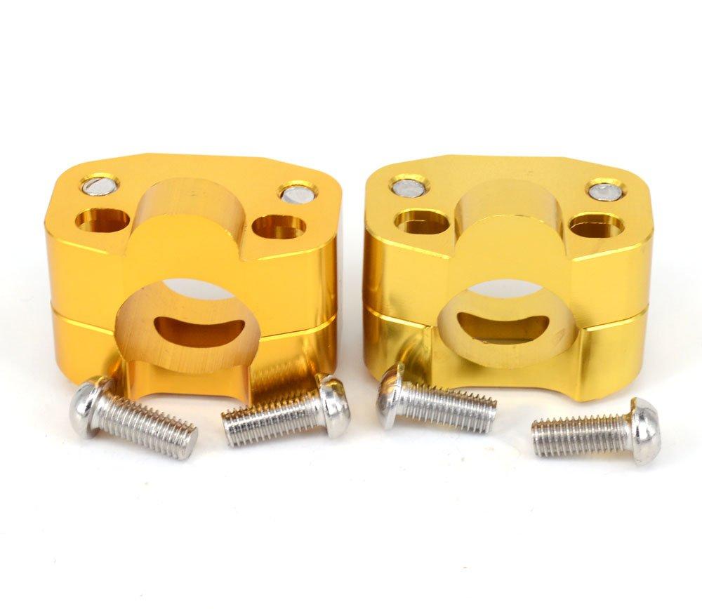 Paire Moto 1 1/8 '28MM CNC guidon guidon Riser Mount adaptateur de serrage 7/8' é change 1 1/8 '- or Fast Pro