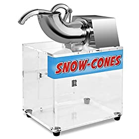 Costzon Electric Ice Shaver Machine Ice Crusher Snow Cone Maker, 264lbs 250W