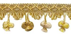 """Marfil, oro amarillo Imperial II de 2""""cebolla borlas estilo # nt2503color: sol de invierno–4874(se vende por el patio)"""