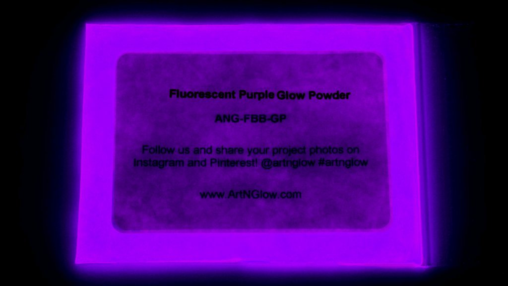 Fluorescent Purple Glow in The Dark Pigment Powder - 60g (2 Ounces) - 10+ Colors Available by Art 'N Glow